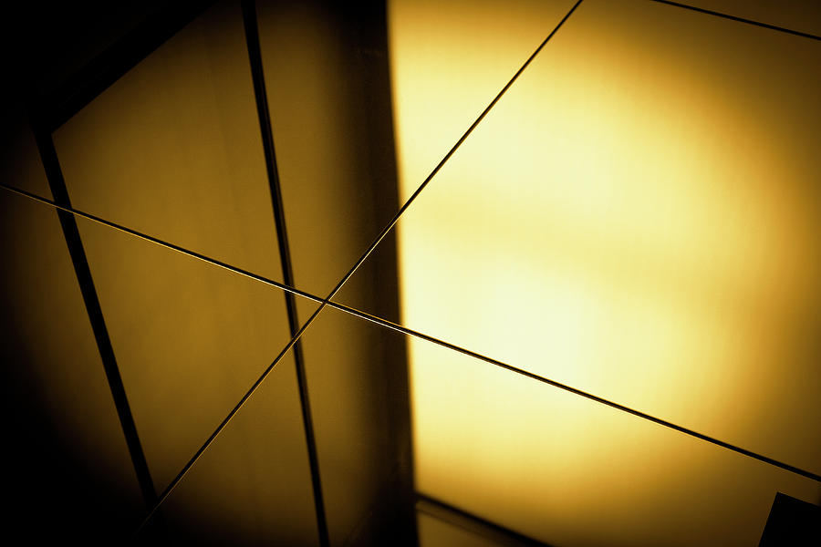 Close-up Spot Lit Reflection In Yellow Photograph by Ralf Hiemisch