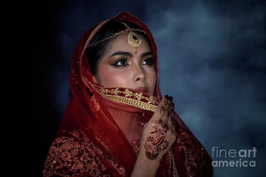 Close Up. Traditional Indian Woman Photograph by Suppasit  Chukittikun