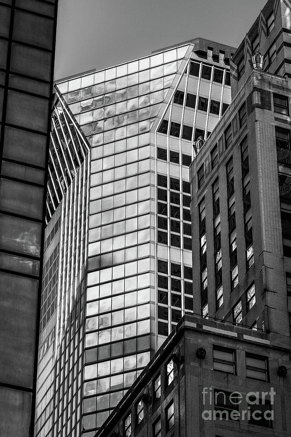 Close-up view of 425 Lexington Ave and modern skyscrapers in Mid by Edi Chen