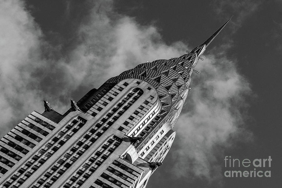 Close-up view of Chrysler Building in Midtown Manhattan New York by Edi Chen