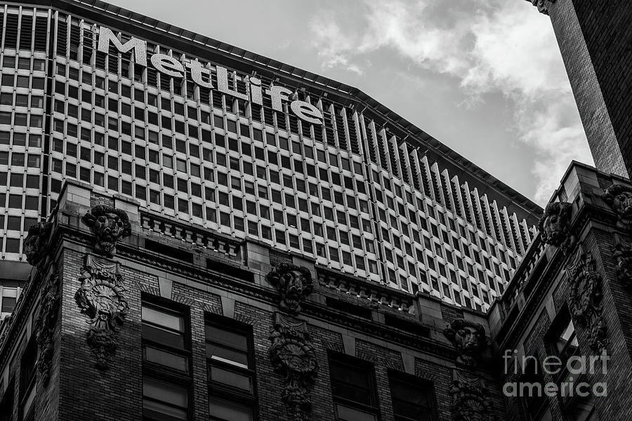 Close-up view of MetLife Building in Midtown Manhattan New York  by Edi Chen