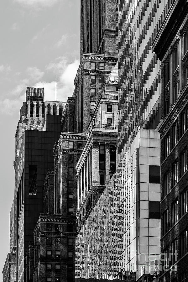 Close-up view of old and modern skyscrapers in Murray Hill Midto by Edi Chen