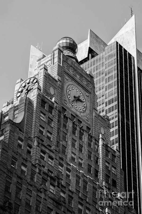 Close-up view of Paramount Building in Midtown Manhattan New Yor by Edi Chen