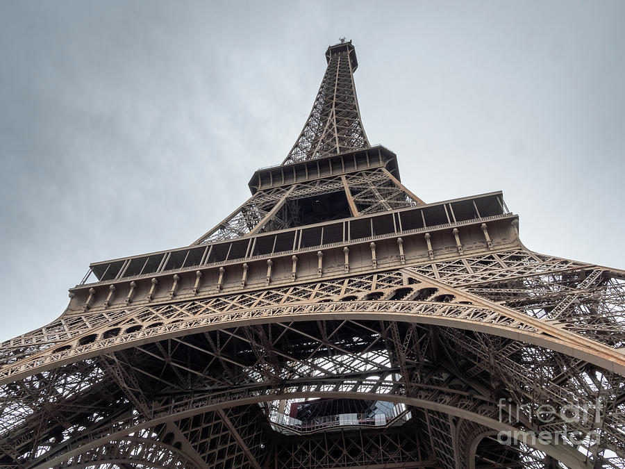 Bridge Photograph - Close Up View Of The Eiffel Tower From Underneath  by PorqueNo Studios