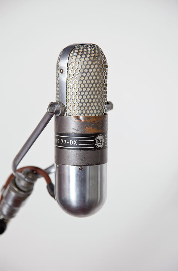 Close-up Vintage Microphone On Stand Photograph by Laara Cerman/leigh Righton