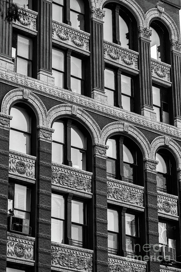 Close view of ornament on the building exterior of Chelsea Hotel by Edi Chen