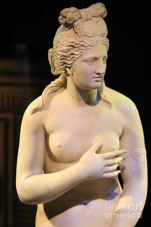 Closeup of Aphrodite in Marble Pompeii 1 Century AD by Colleen Cornelius
