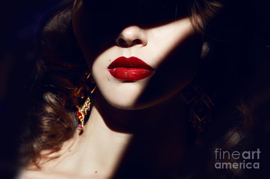 Makeup Photograph - Closeup Of The Face Belong To Beautiful by Indiras Work