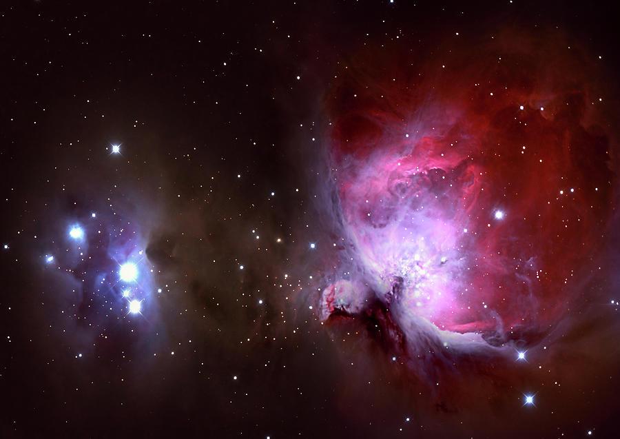 Closeup Of The Great Orion Nebula Photograph by Manfred konrad