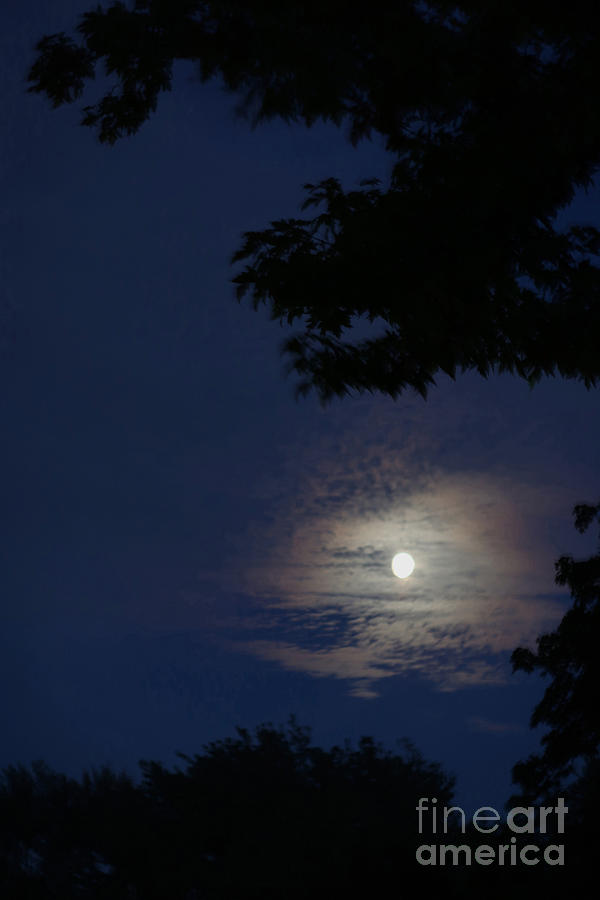 Cloud-framed Moonrise Photograph