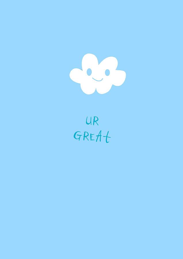 Cloud Happy Smile by Uwaki Art