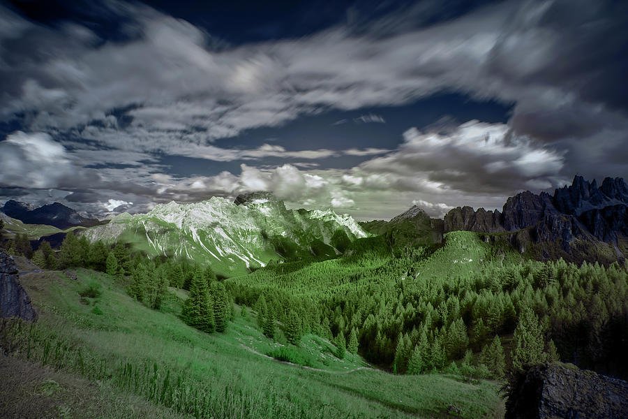 Dolomites Photograph - Cloud Movement In The Dolomites by Jon Glaser