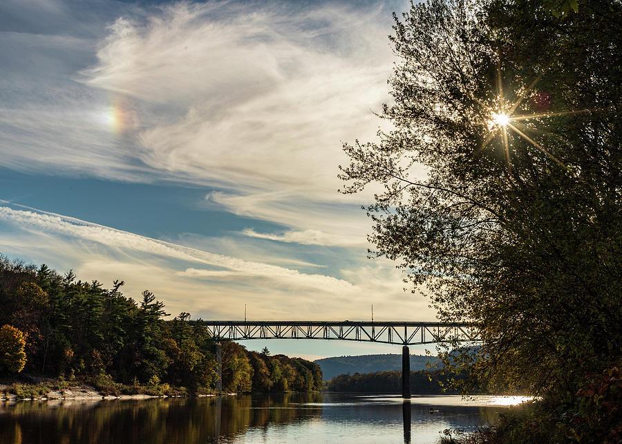 Cloud Rainbow over Milford PA Montague NJ Bridge by Amelia Pearn