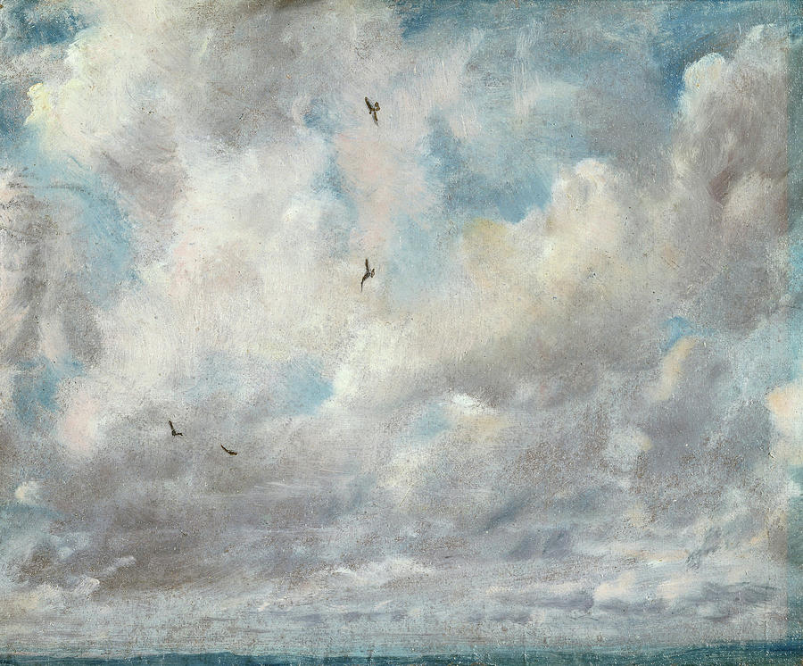 John Constable Painting - Cloud Study - 3, 1821 by John Constable