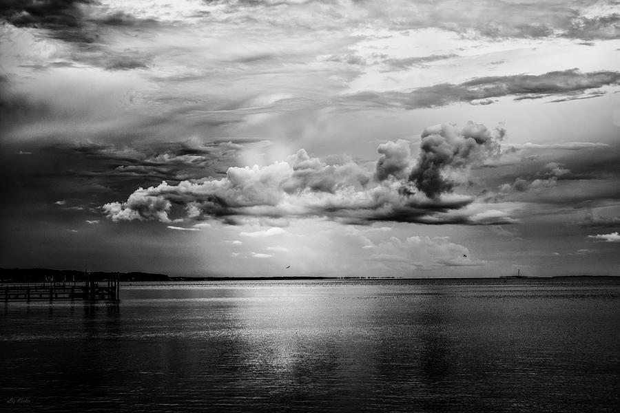 Clouds Above Saint George Sound, 2016l by Liz Keeler