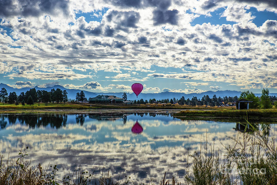Clouds And Balloons Photograph