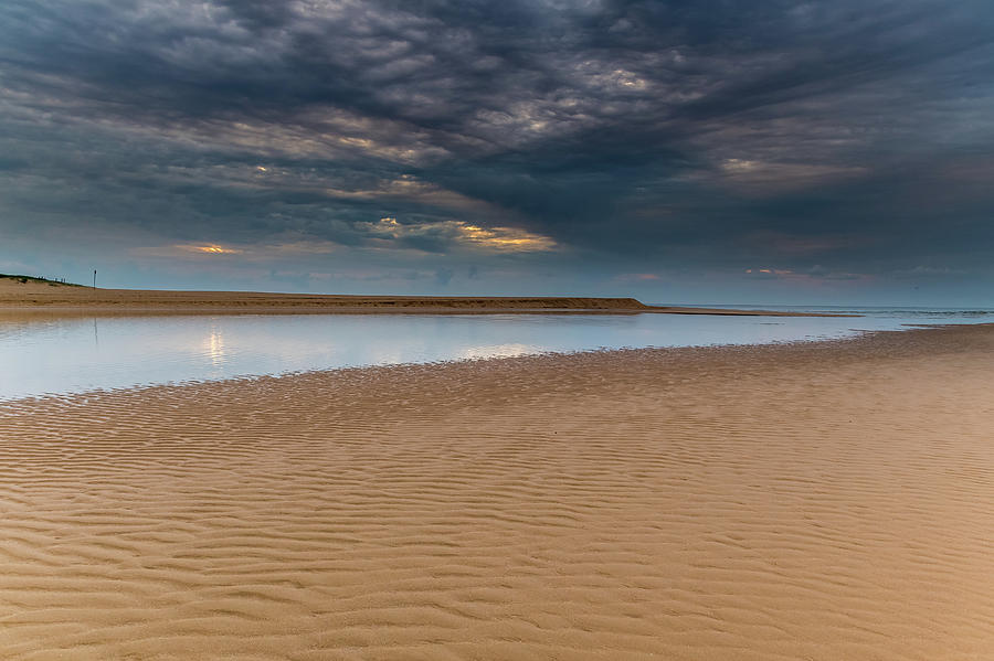 Clouds and Sand Ripples at the Lagoon by Merrillie Redden