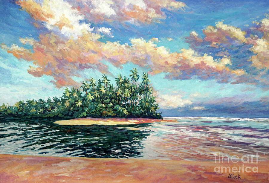 Trinidad Painting - Clouds At Sunset Over The Ortoire River by John Clark