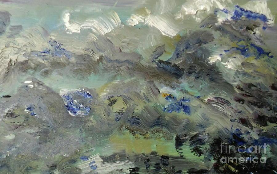 Clouds Before Rain In Summer Painting by Tamara Vitsenkova