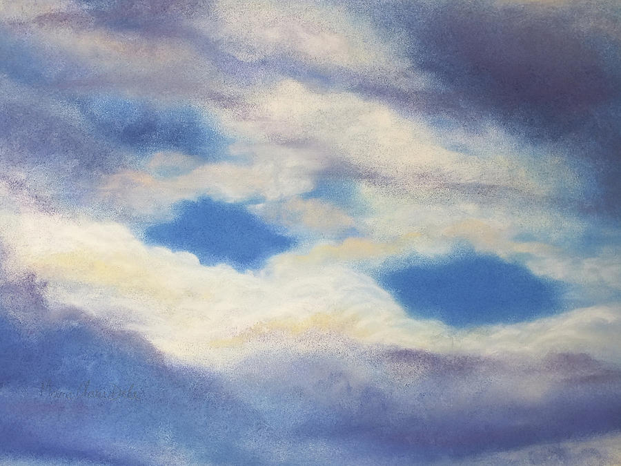 Clouds Pastel - Clouds Leaving by Marie-Claire Dole