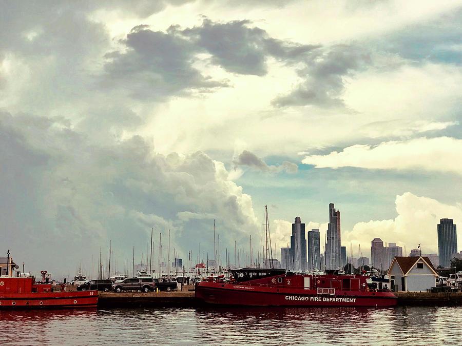 Clouds Over Chicago by Lorraine Devon Wilke