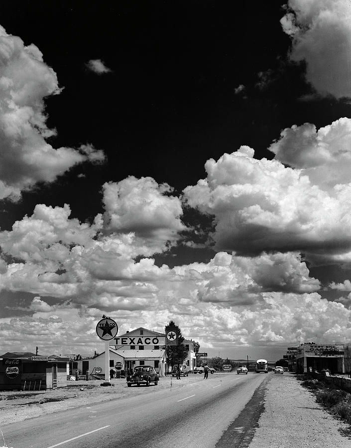Clouds Over Seligman Photograph by Andreas Feininger