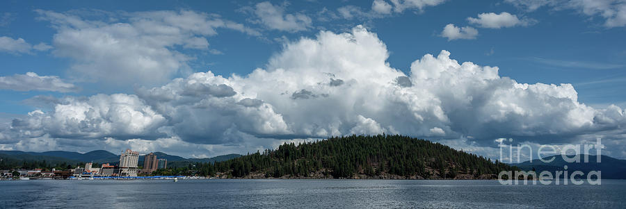 Clouds over Tubbs Hill and CdA Resort by Matthew Nelson