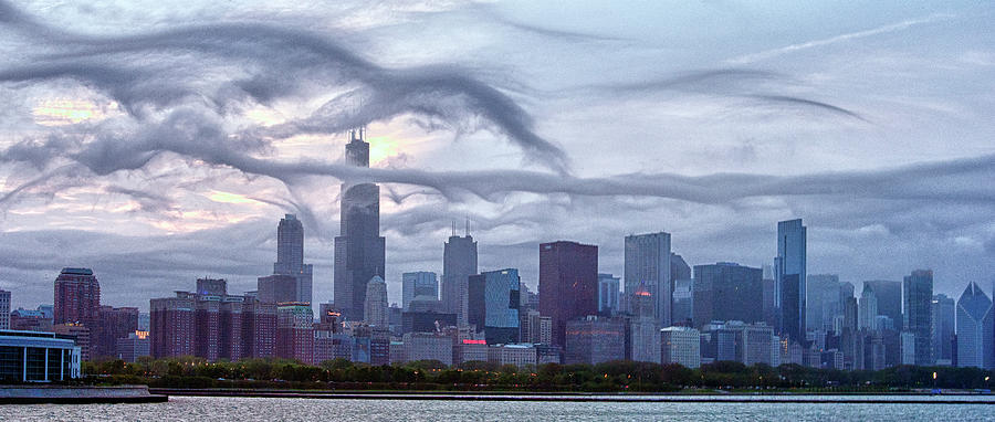 Clouds That Ate Chicago Photograph by By Ken Ilio
