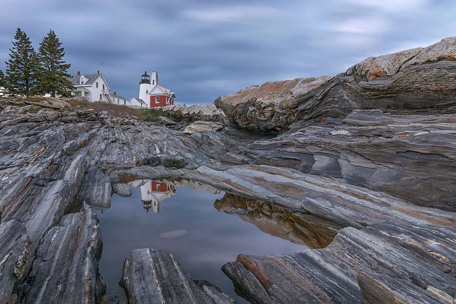 Cloudy Afternoon at Pemaquid Point by Kristen Wilkinson