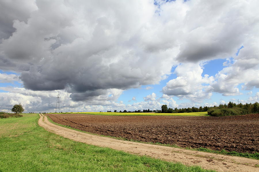 Cloudy Agricultural Landscape Photograph by Dariuszpa