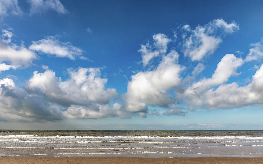 Holland Photograph - Cloudy Beach by Framing Places
