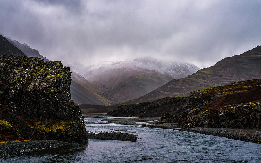 Iceland Photograph - Cloudy Canyon by Framing Places
