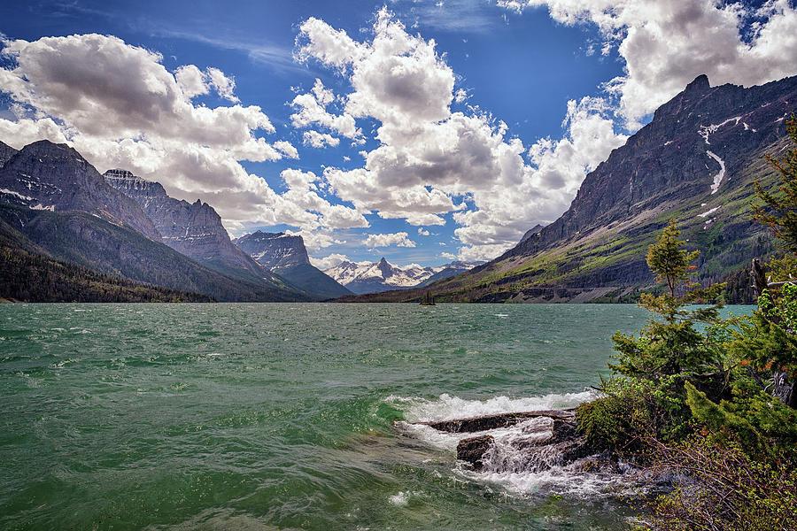 Cloudy Day at Saint Mary Lake by Rick Berk
