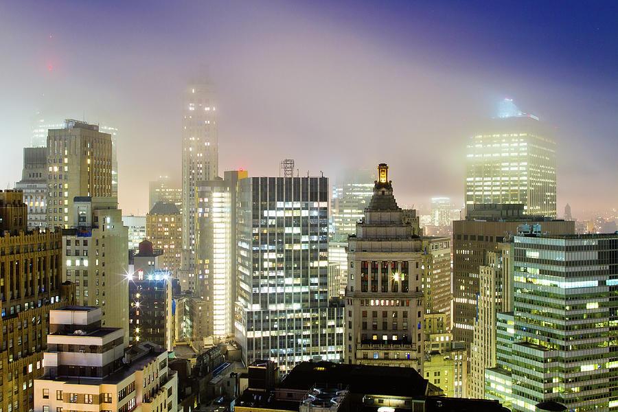 Cloudy Financial District Photograph by Ryan D. Budhu