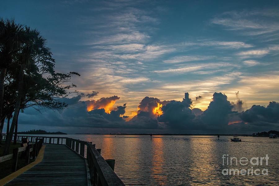 Cloudy Horizon Sunrise by Tom Claud