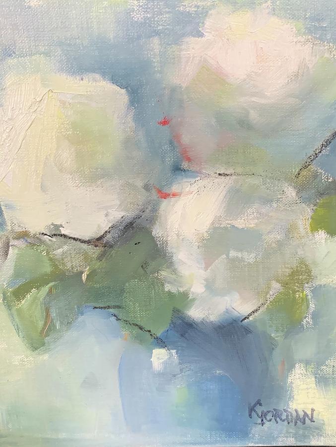 Cloudy Painting by Karen Jordan