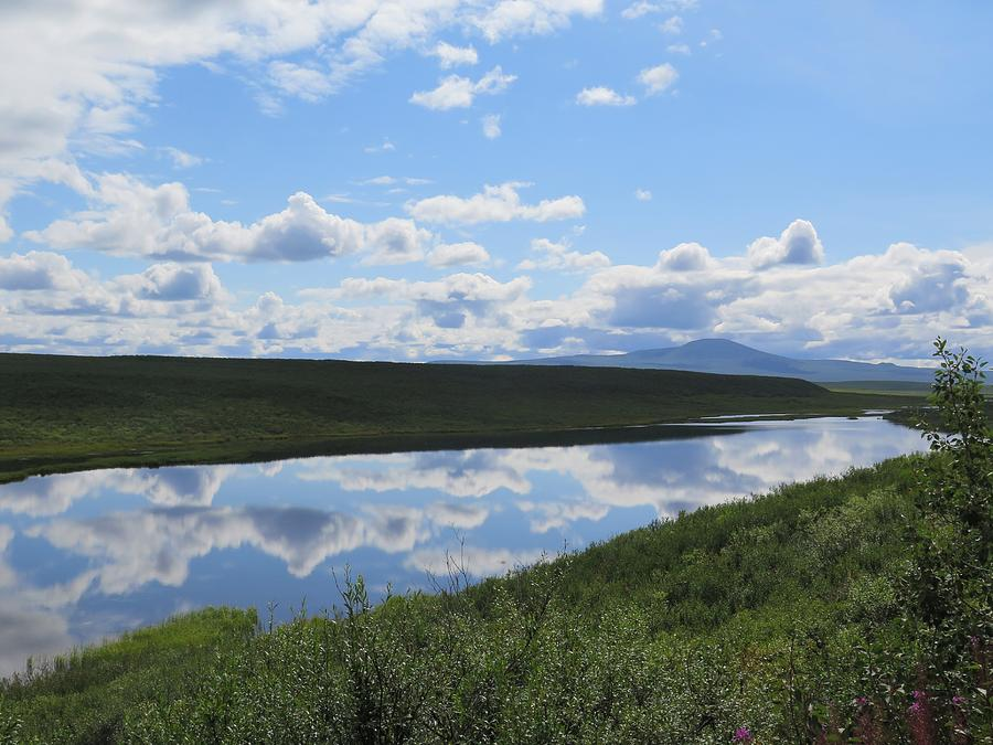Alaska Photograph - Cloudy River by Lori J Welch