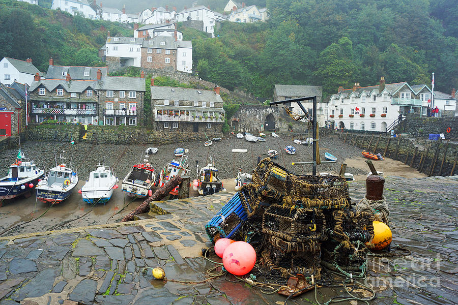 Clovelly harbour, Devon, England by David Birchall