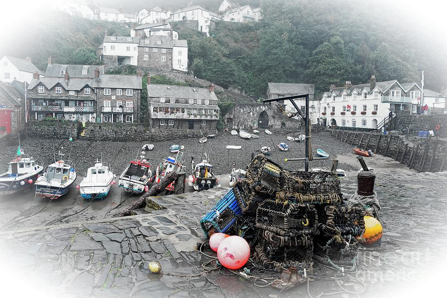 Clovelly Harbour, selective colour by David Birchall