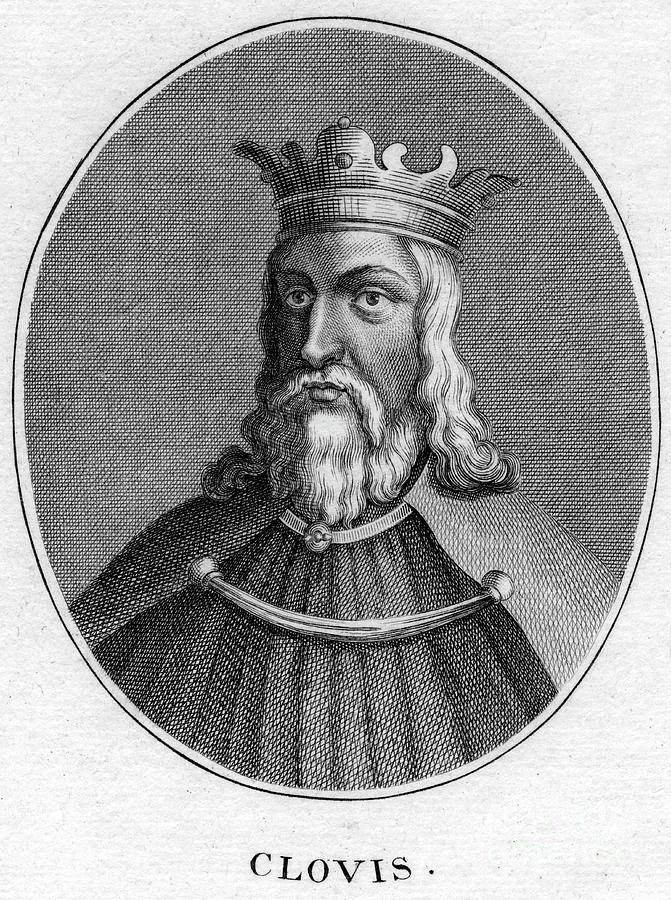 Clovis, King Of The Franks Drawing by Print Collector