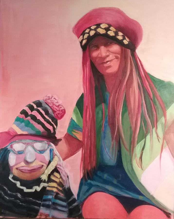 Oil Painting - Clown by Marcia Hochstetter