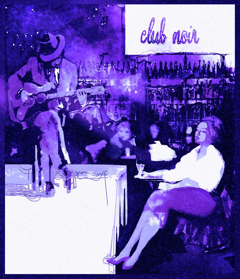 Cool Jazz Digital Art - Club Noir - Cool by Regina Wyatt