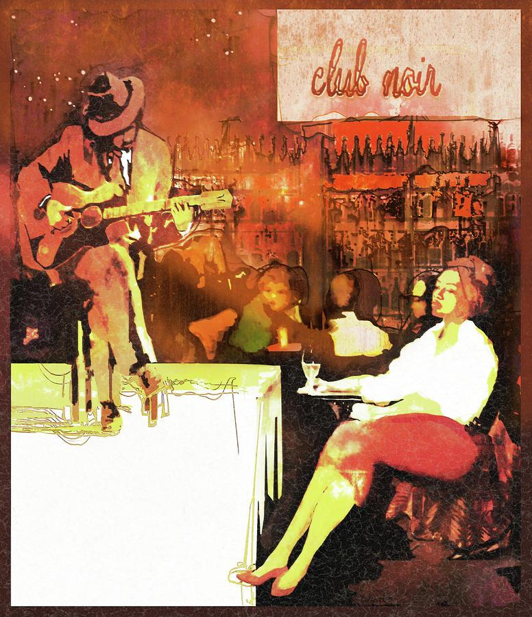 Warm Colors Digital Art - Club Noir - Hot by Regina Wyatt