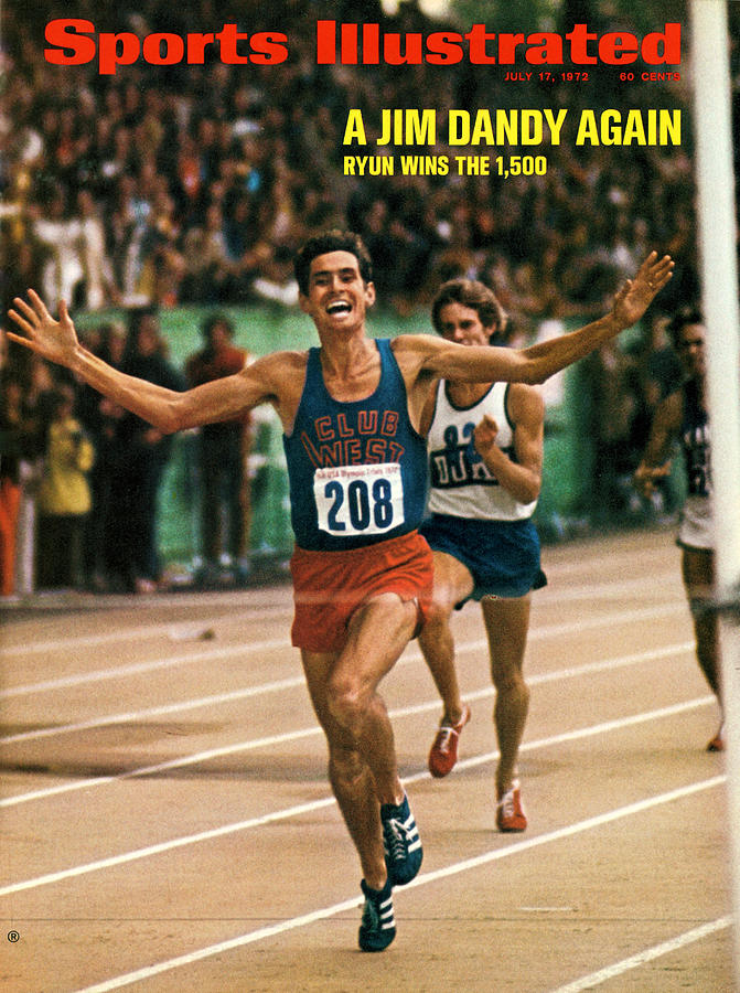 Club West Jim Ryun, 1972 Us Olympic Track & Field Trials Sports Illustrated Cover Photograph by Sports Illustrated