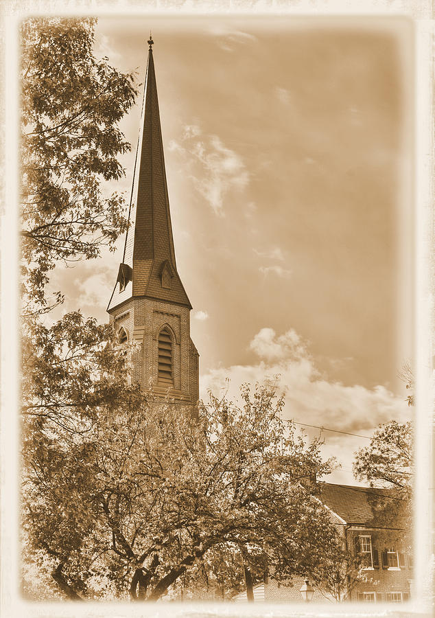 Clustered Spires Photograph - Clustered Spires Series - All Saints Episcopal Church No. 8cs - Frederick Maryland by Michael Mazaika