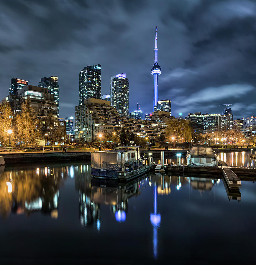 Tranquility Photograph - Cn Tower And Toronto Skyline From by Hugociss
