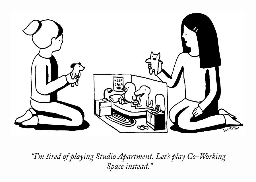 Co-Working Space Play Drawing by Suerynn Lee