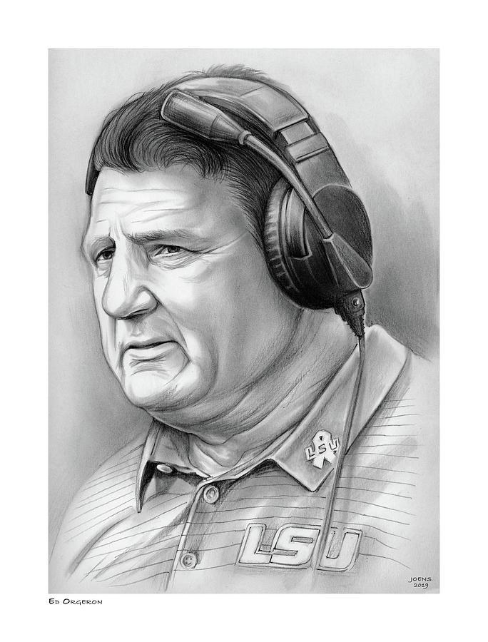 Coach Ed Orgeron Drawing