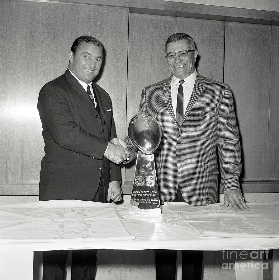 Coach Vince Lombardi Shaking Hands Photograph by Bettmann