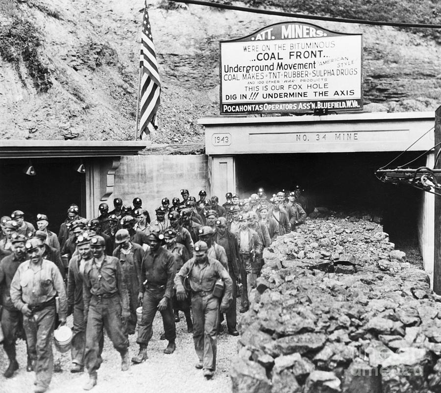 Coal Miners File Photograph by Bettmann